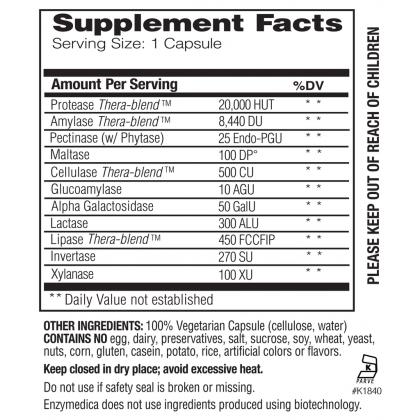 Enzymedica Digest Basic (Essential Enzymes Formula)